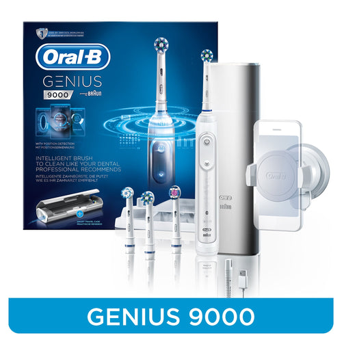 Oral-B GENIUS 9000 White Electric Rechargeable Toothbrush G9000W - Get a Cut NZ