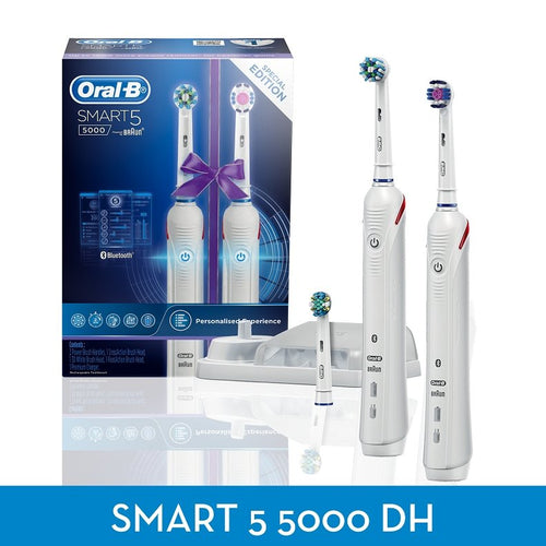 Oral-B Smart 5 5000 Dual Handle Electric Rechargeable Toothbrush S5000DH - Get a Cut NZ