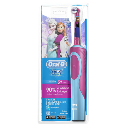 Oral-B Stages Frozen Power Kids Electric Toothbrush D12K-F - Get a Cut NZ
