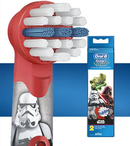 Oral-B stages Kids Brush head replacement 2 Star Wars – 2 pack EB10-2S - Get a Cut NZ