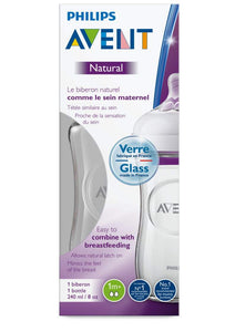 Philips Avent Natural Glass Bottle 240ml 28009451 ** Brand new! ** - Get a Cut NZ