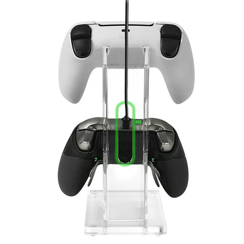 clear dual universal controller stand for gaming