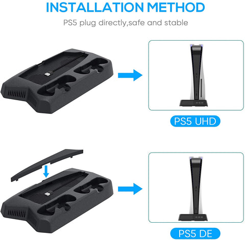 playstation 5 vertical charging station for DualSense Digital edition and UHD ps5s