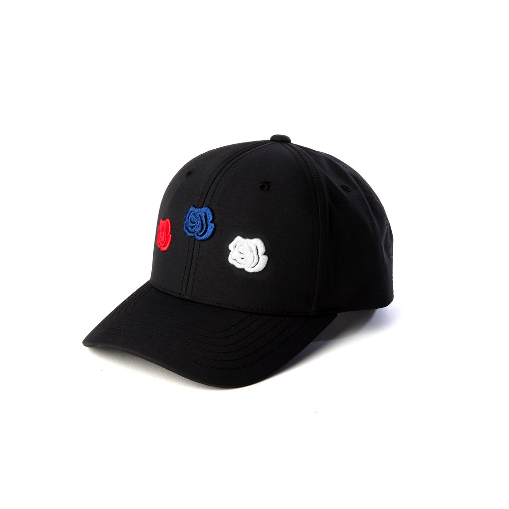 BLACK TRIPLE ROSE CAP - LA ROSA COPENHAGEN