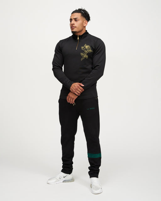 LA ROSA 'BLACK ROLEY ROSE' CREWNECK