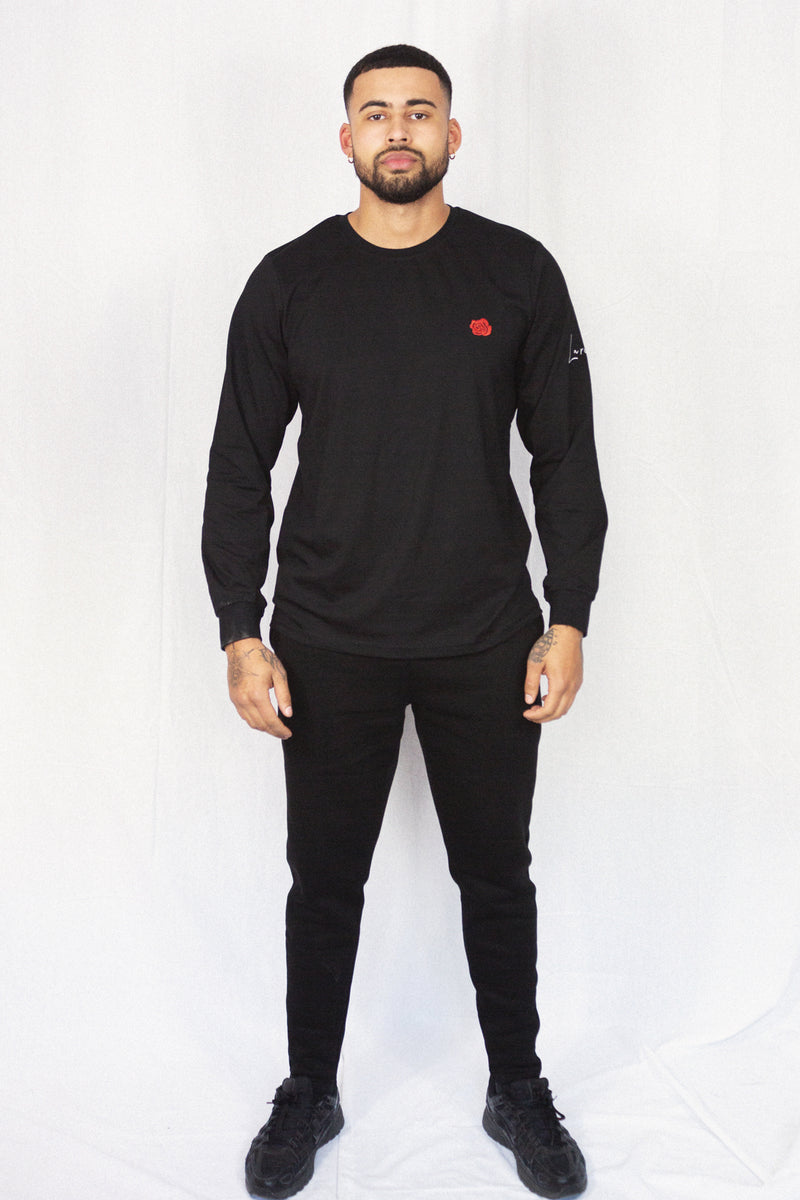 BLACK ROSE LONG SLEEVE TEE
