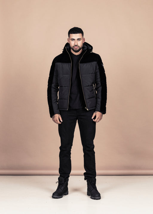 Black Velvet Down Jacket