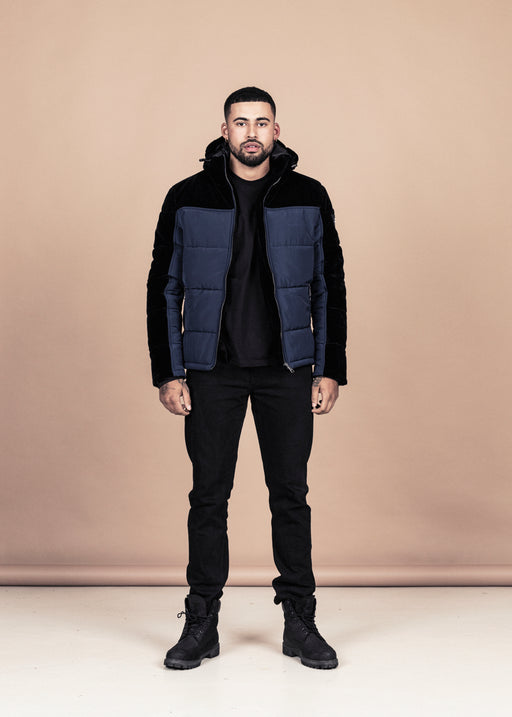 Blue Velvet Down Jacket