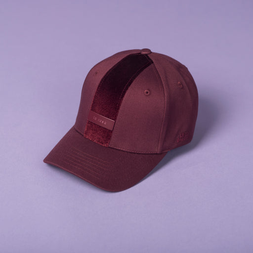 ALL BURGUNDY ENZO BALDINI BASEBALL CAP