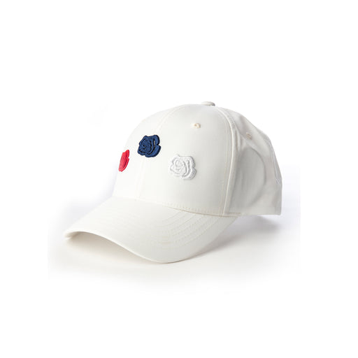 Triple Rose Cap White