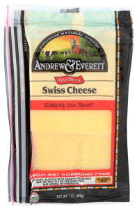 Andrew & Everett - Swiss Cheese, Sliced 7oz.