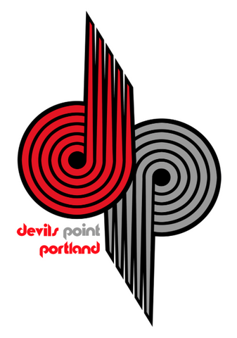 Devils Point Vinyl Pinwheel Sticker