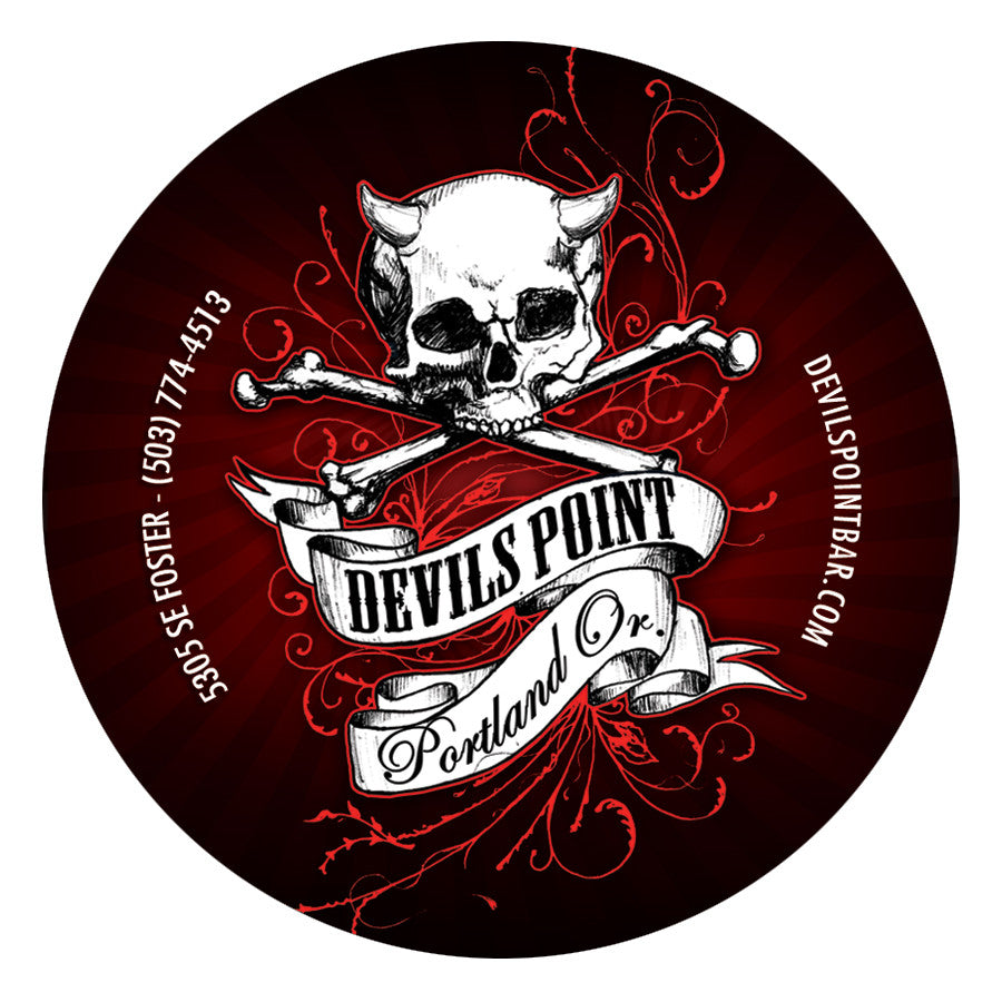 Devils Point Vinyl Round Sticker