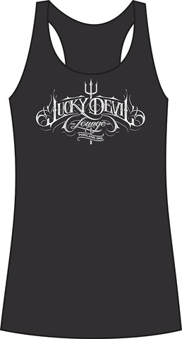 Lucky Devil Tri-Blend Racerback Womens Tank Top