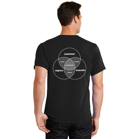 Devils Point Stripparaoke Veen Diagram Unisex shirt