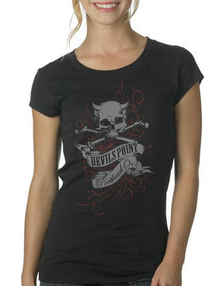 Devils Point Short Sleeve Womens T-Shirt
