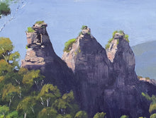 Load image into Gallery viewer, Three Sisters Blue Mountains Oil Painting
