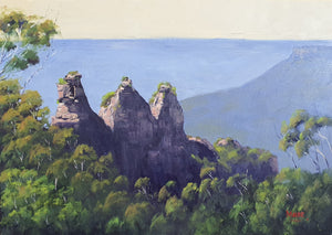Three Sisters Blue Mountains Oil Painting