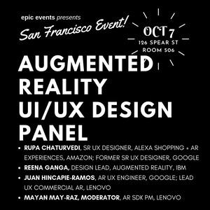Augmented Reality UI/UX Design Panel