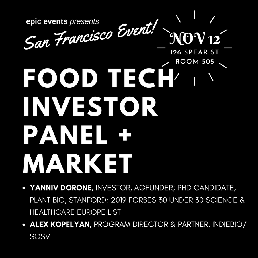 Food Tech Investor Panel + Plant Based Foods Market