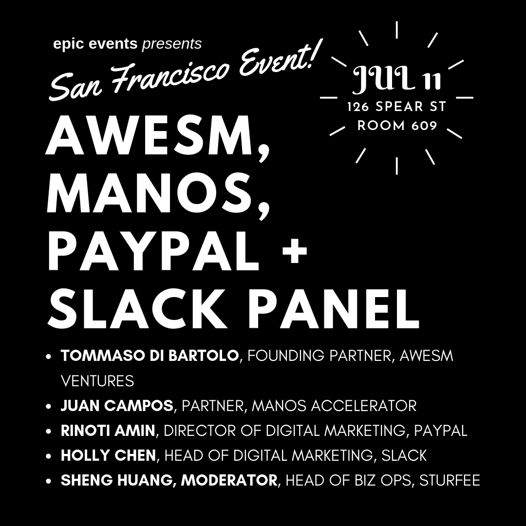 Innovation Panel with Awesm Ventures, Manos, PayPal & Slack