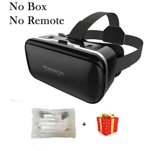 VR Shinecon 6.0 Casque Virtual Reality Glasses 3 D 3d Goggles Headset Helmet For iPhone Android Smartphone Smart Phone Lens Ios