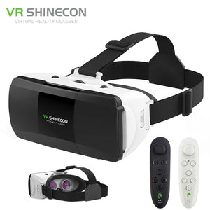 VR Shinecon Pro Virtual Reality 3D Glasses VR Google Cardboard Headset Glasses Virtual for 4-6.0 inch ios Android Smartphone