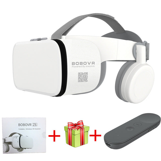 2019 Newest Bobo vr Z6 VR glasses Wireless Bluetooth VR goggles Android IOS Remote Reality VR 3D cardboard Glasses 4.7- 6.2 inch