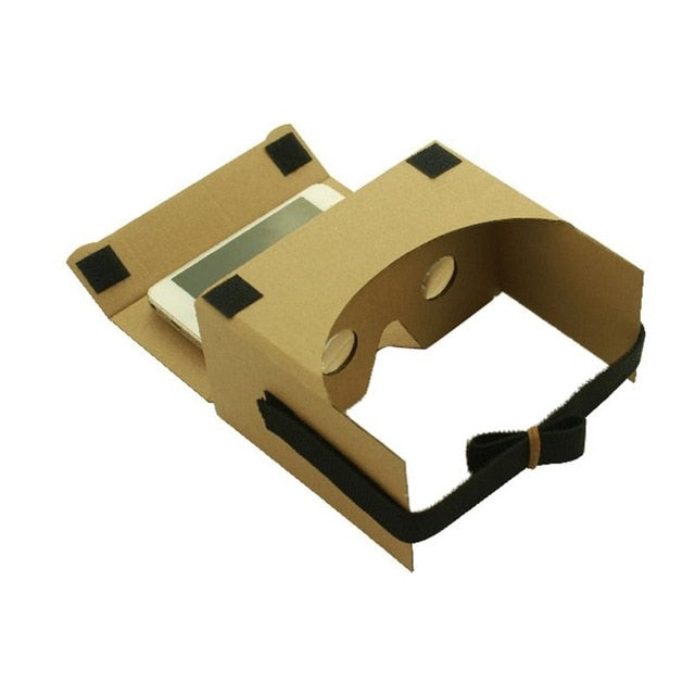 Light Castle 3D VR Head-mounted Cardboard Style Virtual Reality Glasses Shocking Visual Effects For Mobile Phone Iphone Samsung