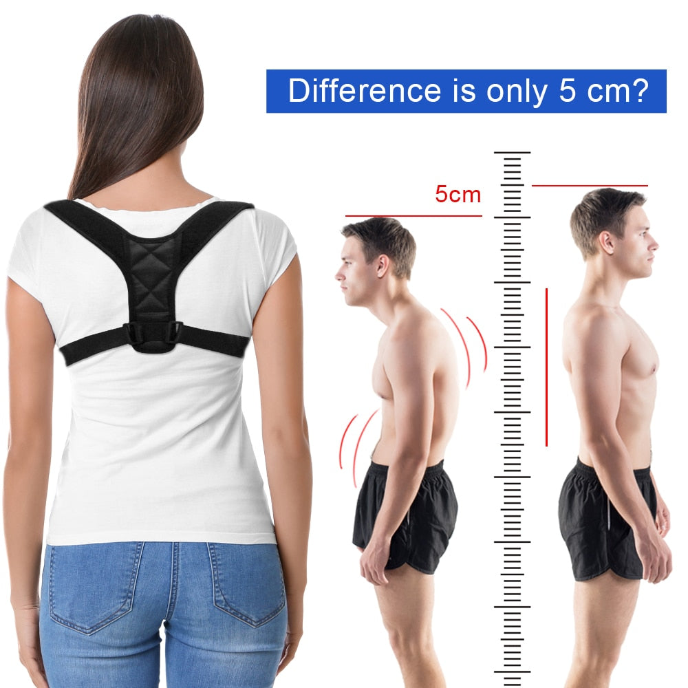 DropShipping Adjustable Back Posture Corrector Clavicle Spine Back Shoulder Lumbar Brace Support Belt Posture Correction
