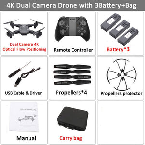 Visuo XS816 RC Drone with 50 Times Zoom WiFi FPV 4K /720P Dual Camera Optical Flow Quadcopter Foldable Selfie Dron VS SG106 M70