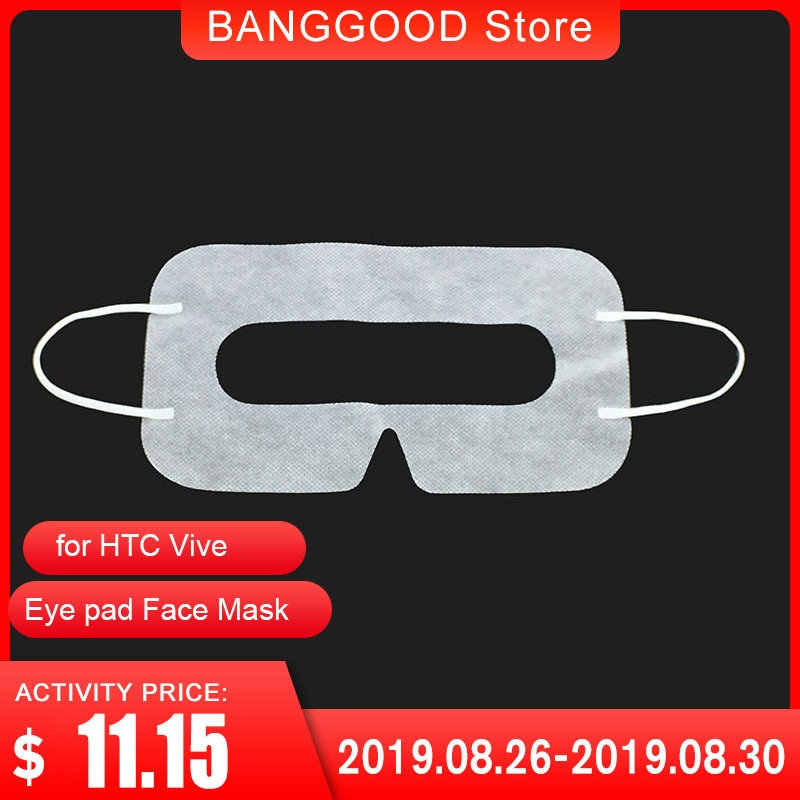 Universal 100PCS white Protective Hygiene Eye pad Face Mask pads for HTC Vive for PlayStation 3D Virtual Reality Glasses