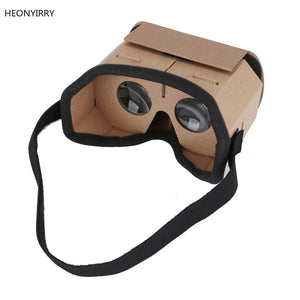 DIY Portable Virtual Reality Glasses Google Cardboard 3D Glasses 42mm lens VR glasses For SmartPhones For Iphone X 7 8 VR