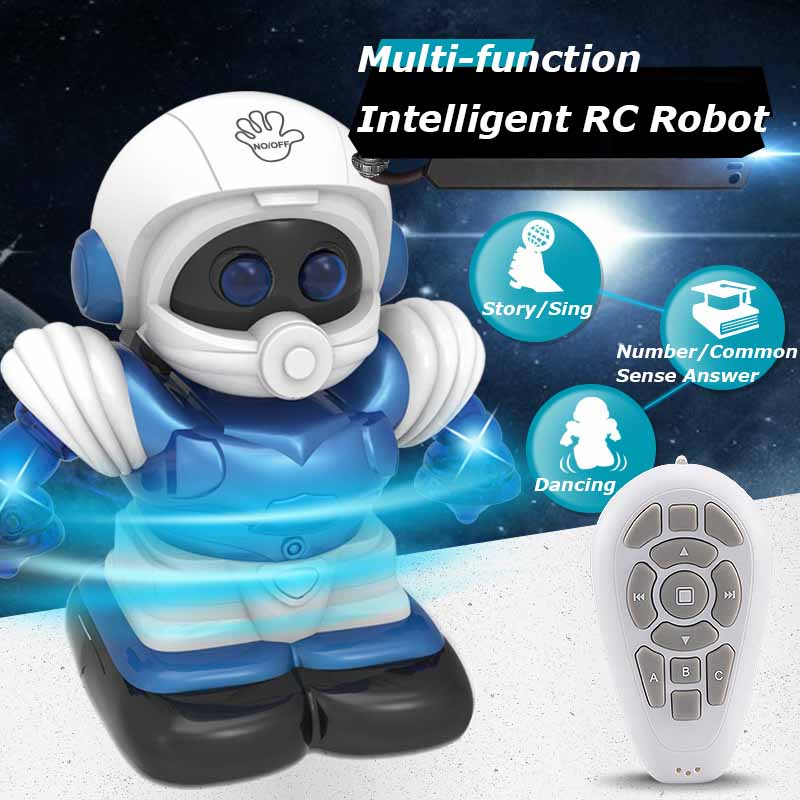 Artificial Intelligence RC Robot Toy Remote Control Smart Mini Robot Dancing Singing Gesture Sensing Follow Robot Toys For Kids