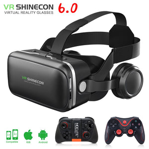 VR shinecon 6.0 3D Glasses box google cardboard virtual reality goggles VR headset for 4.5-6.0 inch ios Android smartphone