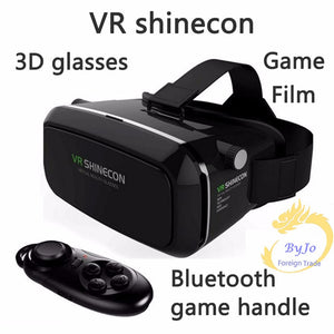 Google Cardboard VR shinecon Pro Version VR Virtual Reality 3D Glasses and Smart Bluetooth Wireless Remote Control Gamepad