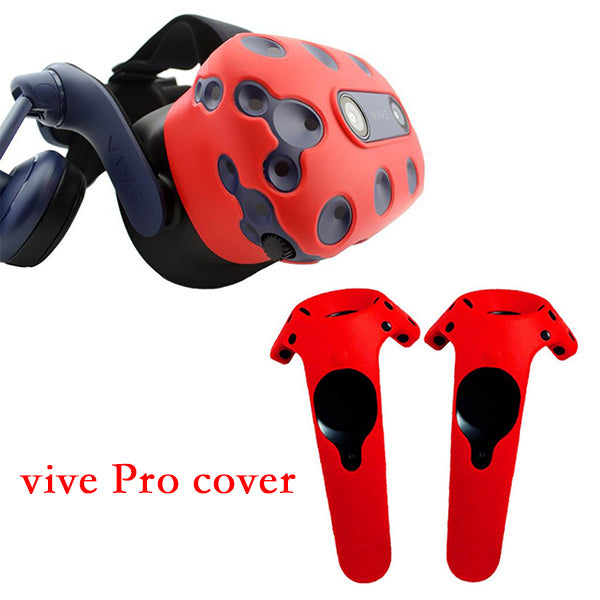 For HTC VIVE PRO VR Virtual Reality Headset Silicone Rubber VR Glasses Helmet Controller Handle Case Shell Silicone Case Cover