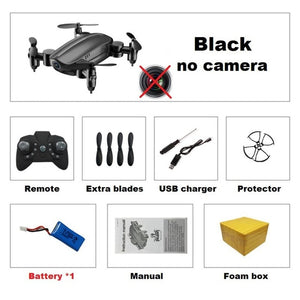 Teeggi T10 Mini Drone with Camera HD Foldable WiFi FPV RC Quadcopter Headless Mode Altitude Hold VS S9 Micro Pocket Selfie Dron