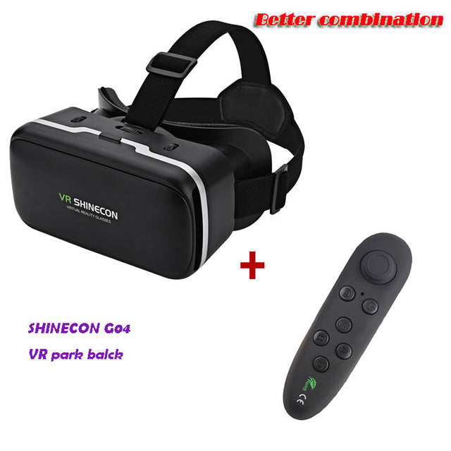 VR SHINECON G04 Virtual Reality Headset 3D VR Glasses for 4.7-6.0 inches Android iOS Smart Phones