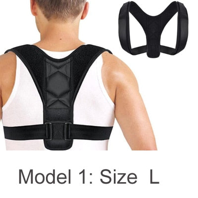 New Posture Corrector Spine Back Shoulder Support Corrector Band Adjustable Brace Correction Humpback Back Pain Relief