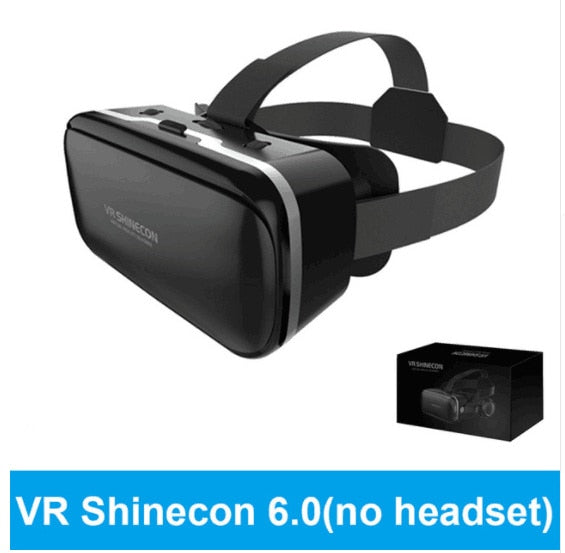 Shinecon 6.1 VR Virtual Reality  3D Glasses Google Cardboard VR Headset Box Goggles Headset Helmet for Smart Phone