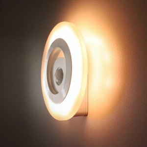 Body Motion Sensor Night Light Lamp Artificial Intelligence Wall Light Dependent Control Induction Lamp Closet Corridor Cabinet