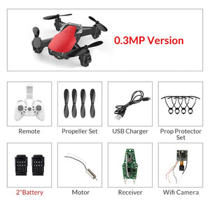 Eachine E61/E61hw Mini Drone With/Without HD Camera Hight Hold Mode RC Quadcopter RTF WiFi FPV Foldable Helicopter VS S9HW T10