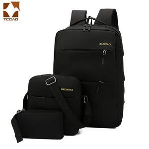 Mochila masculina backpack set 3 Pcs/set male Shoulder Bag Teenagers Man Student Book Bag erkek sırt çantası para adolescentes