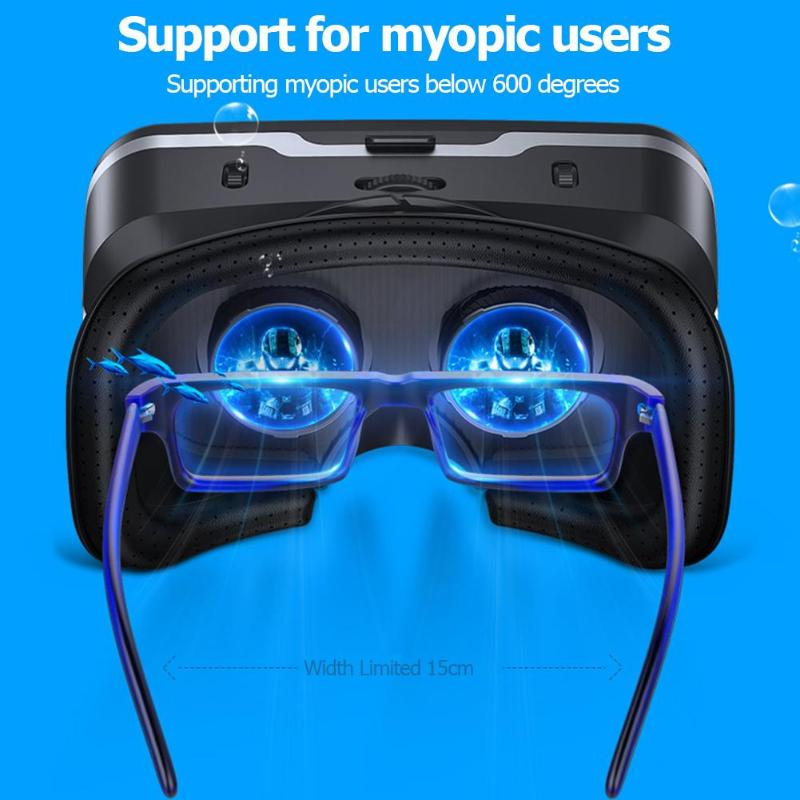 2019 New Google Cardboard VR shinecon Pro Version VR Virtual Reality 3D Glasses 360 Degree Panorama Game Helmet Mini VR Glasses