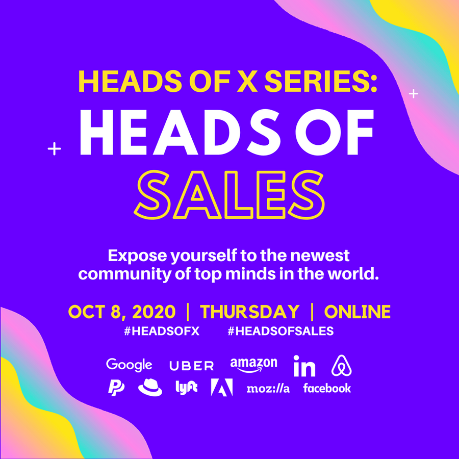 10/8 Heads Of X Series: Heads of Sales Conference