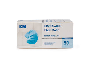 3-ply Disposable Masks - 50 Masks per Box - NEW Reduced Price!