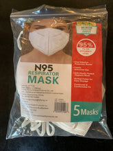 Load image into Gallery viewer, Bulk - N95 Masks - Standard Protective Masks - 1300 Masks per Case
