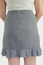 Load image into Gallery viewer, Gingham Ruffle Skirt