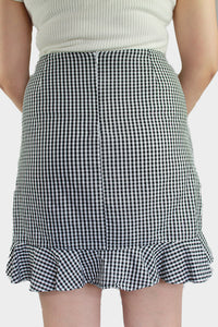 Gingham Ruffle Skirt